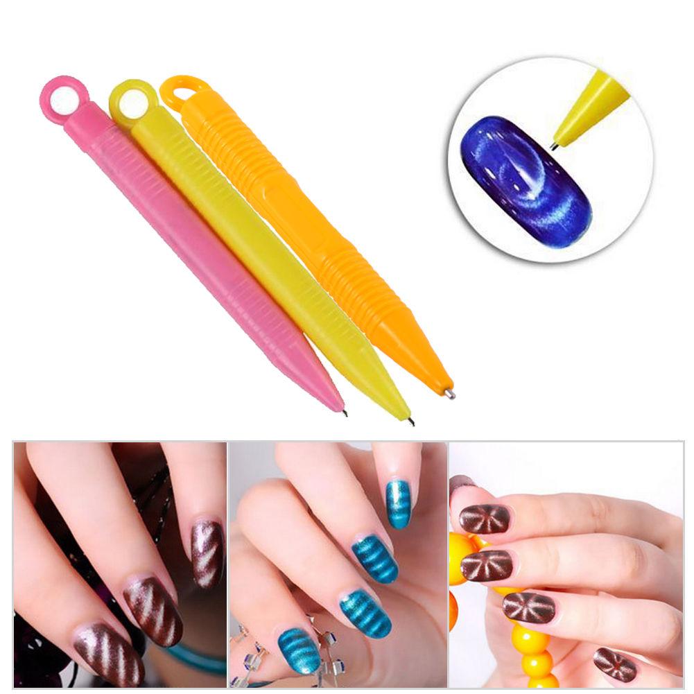Magnet Pen Magnetic Stick for Cat Eye Gel Polish UV LED Nail Art ...