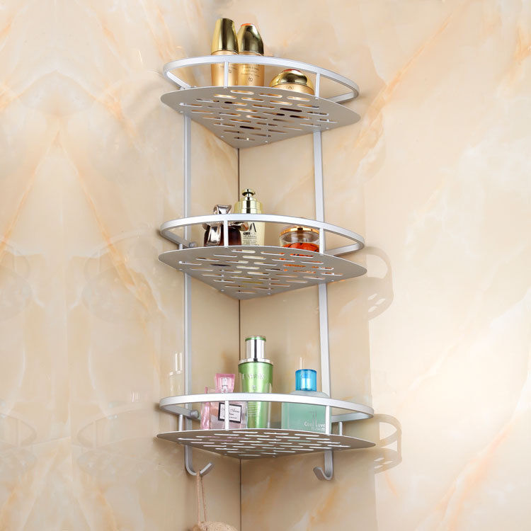 Hot Shower Caddy 2/3 Shelf Storage Aluminum Corner