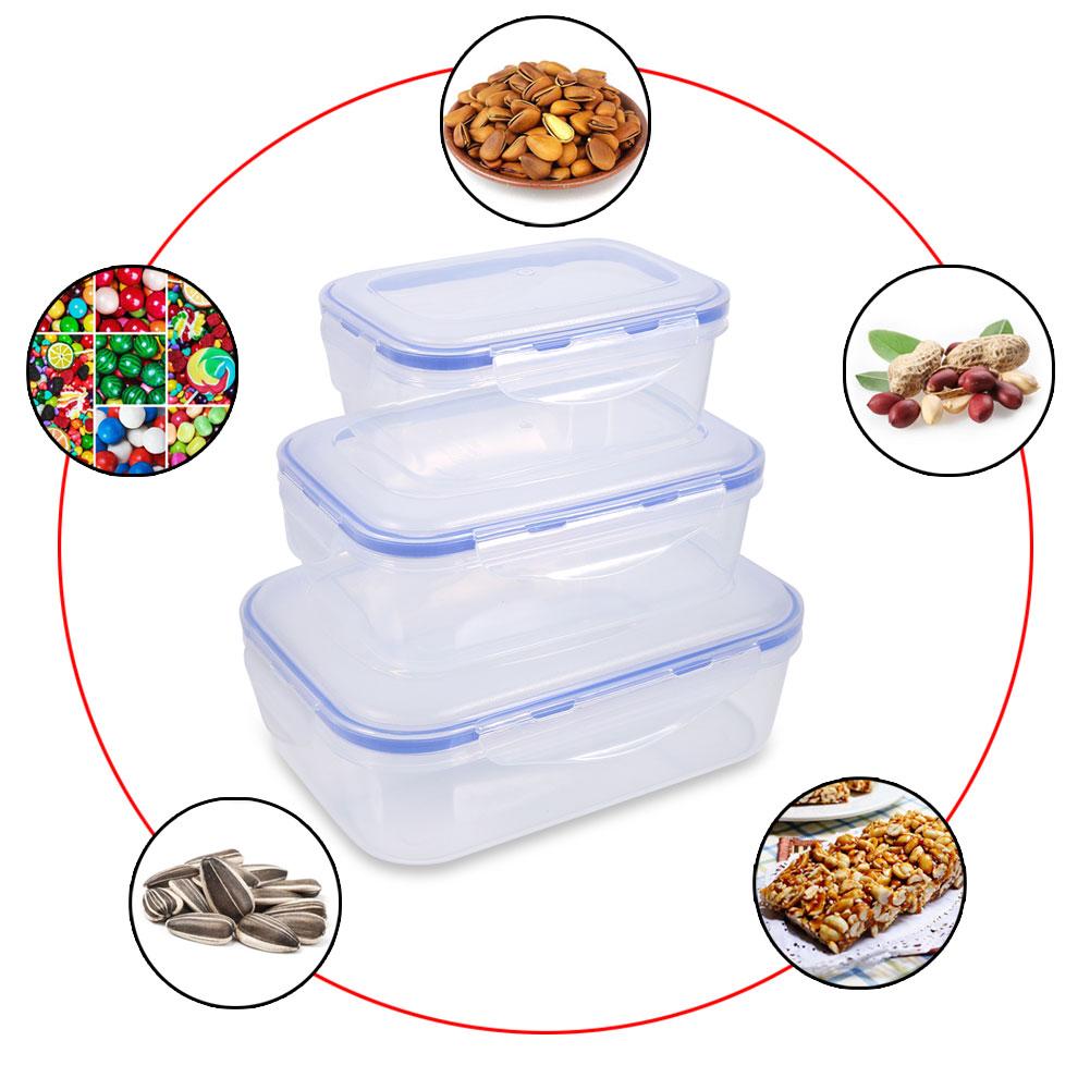 Product Description  sc 1 st  eBay & Lunch Box Food Storage Clip Seal Lock Lids Fridge Containers Plastic ...