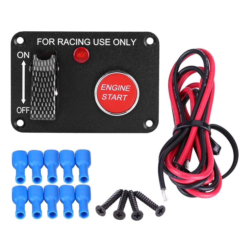 12v racing car red led toggle ignition switch panel engine start 12v racing car red led toggle ignition switch panel engine start push button lj fandeluxe Image collections