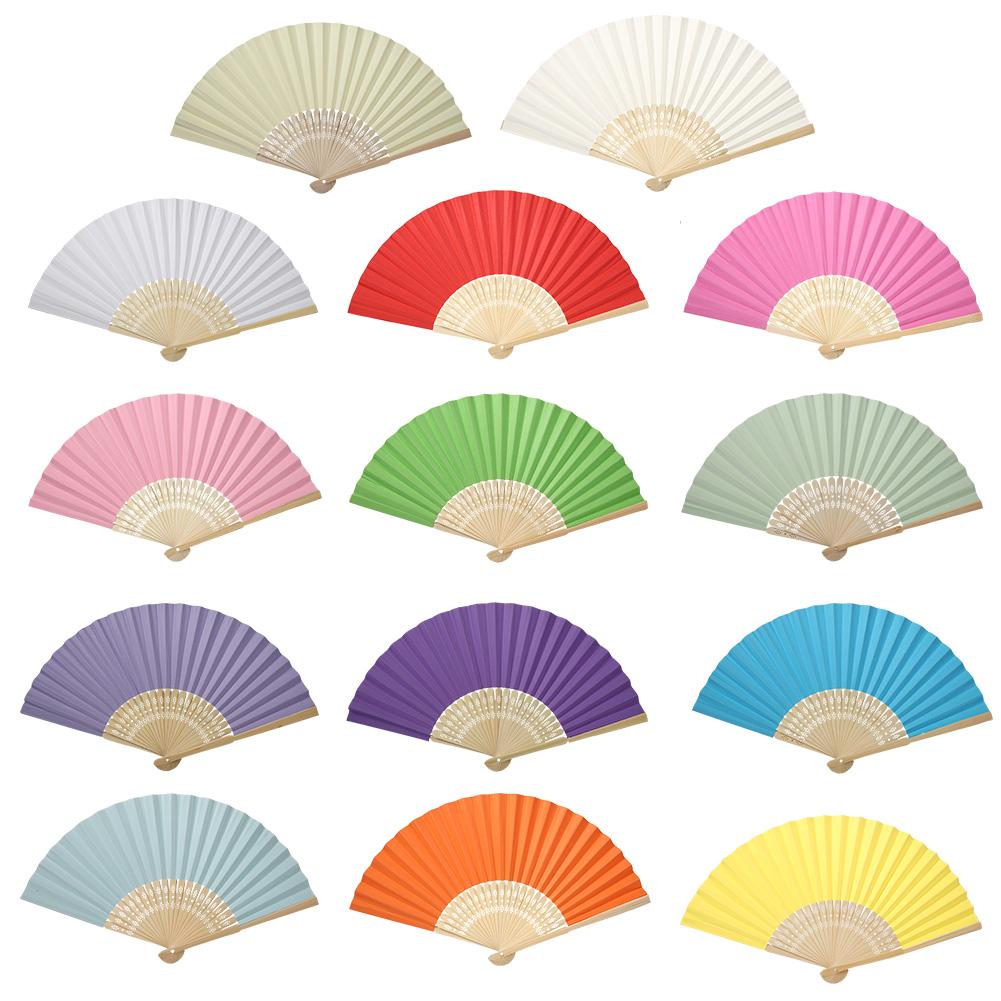 Lovely Handheld Mini Fan Folding Bamboo Chinese Paper Fans Wedding ...