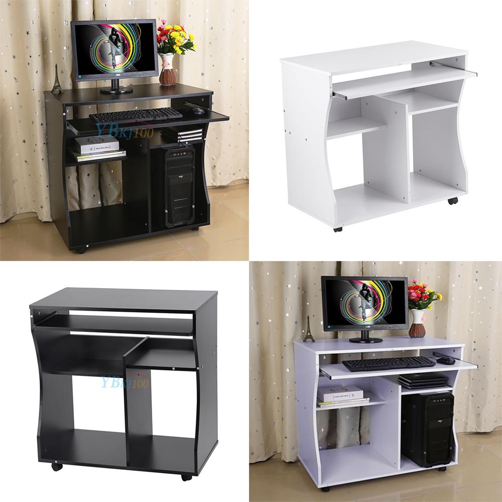 eckschreibtisch schwarz holz, holz computertisch pc tisch schreibtisch schwarz weiß mit rollen, Design ideen