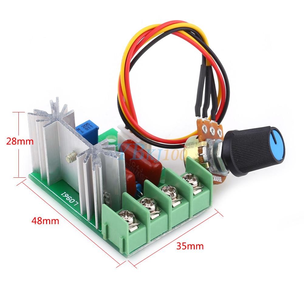 2000w Ac50v 220v Scr Voltage Regulator Speed Controller Led Dimmers Dimmer Thermostat