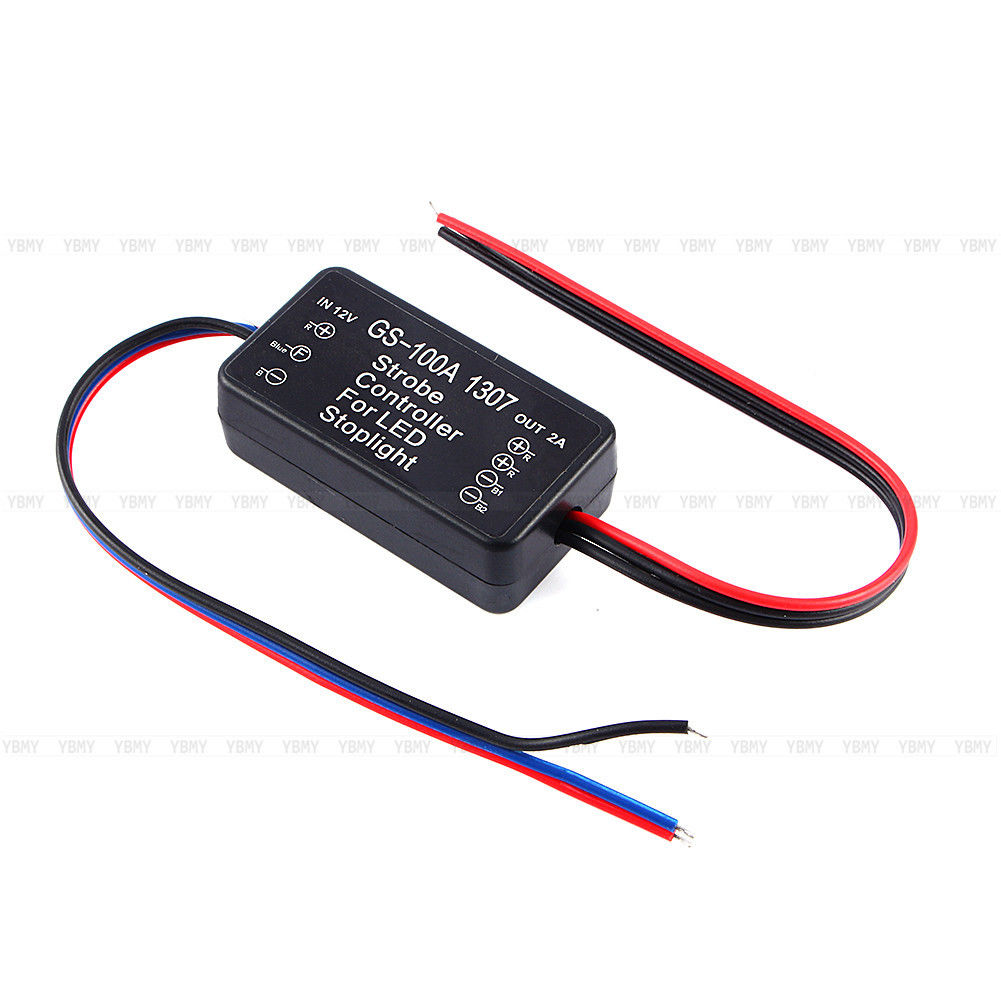 1307 Gs 100a Led Auto Brake Stop Light Flasher Module Flash Strobe Traffic Circuit Pictures New Car Lamp Controller