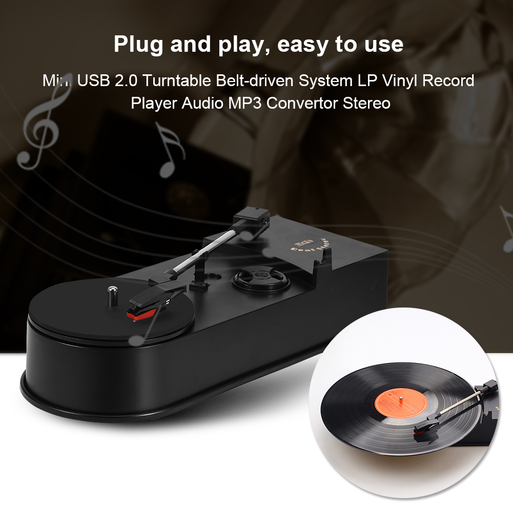 how to connect mp3 record player to computer