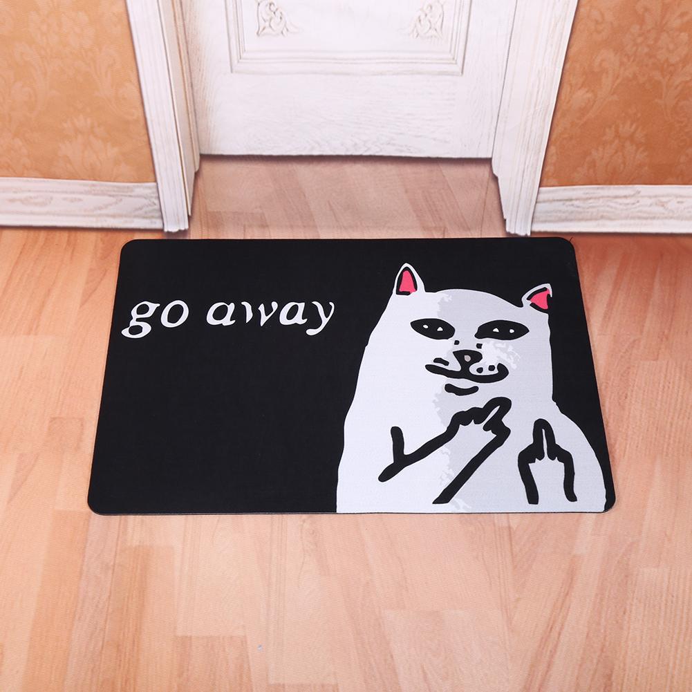Creative Door Mat Starfish Go Away Cat Rubber Floor Rug