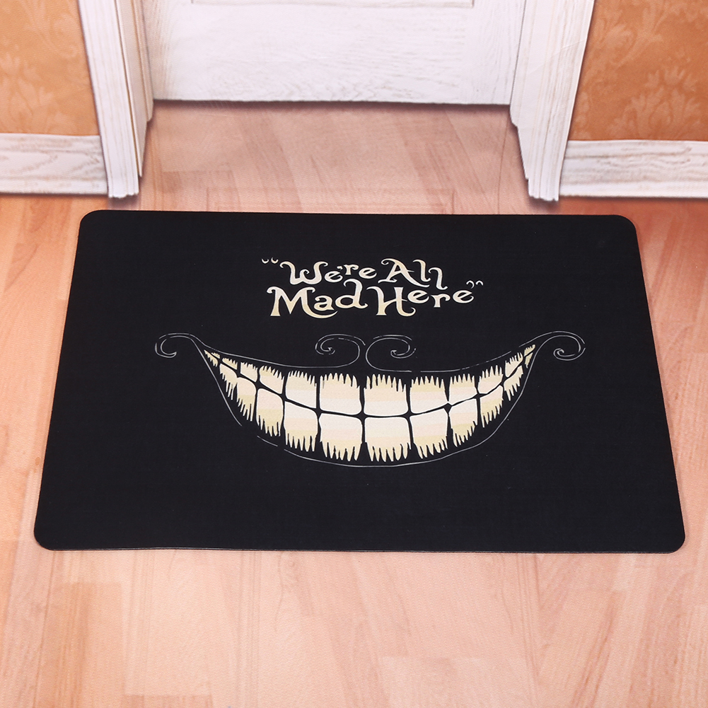 Creative Door Mat Starfish Go Away Cat Rubber Floor Rug