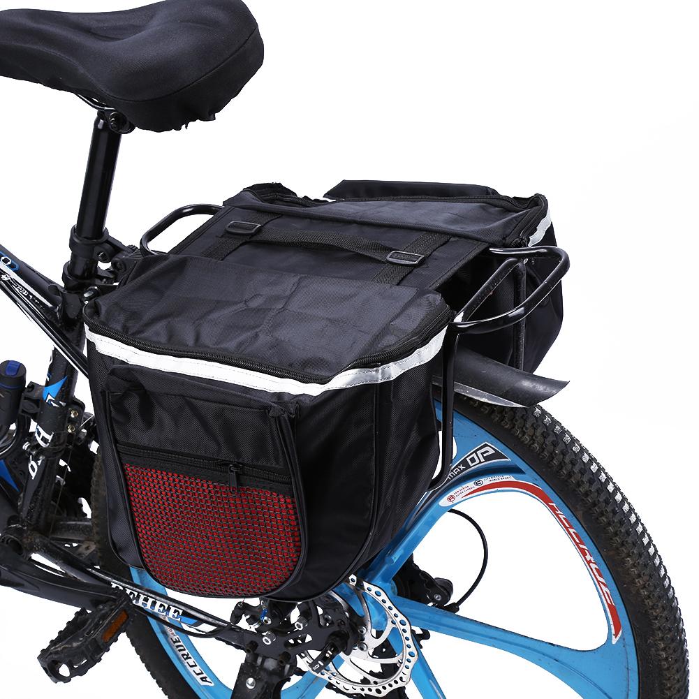 Cycling Bike Bicycle Rear Rack Seat Trunk Saddle Storage Pannier Pouch Bag LJ