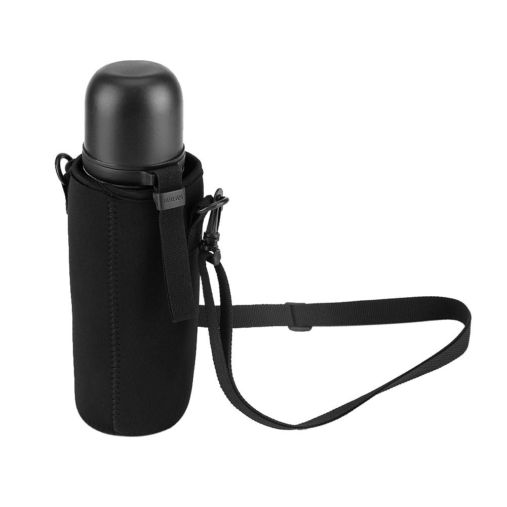 Outdoor Water Bottle Carrier Cover Holder Shoulder Strap Belt Travel Drink Bag J