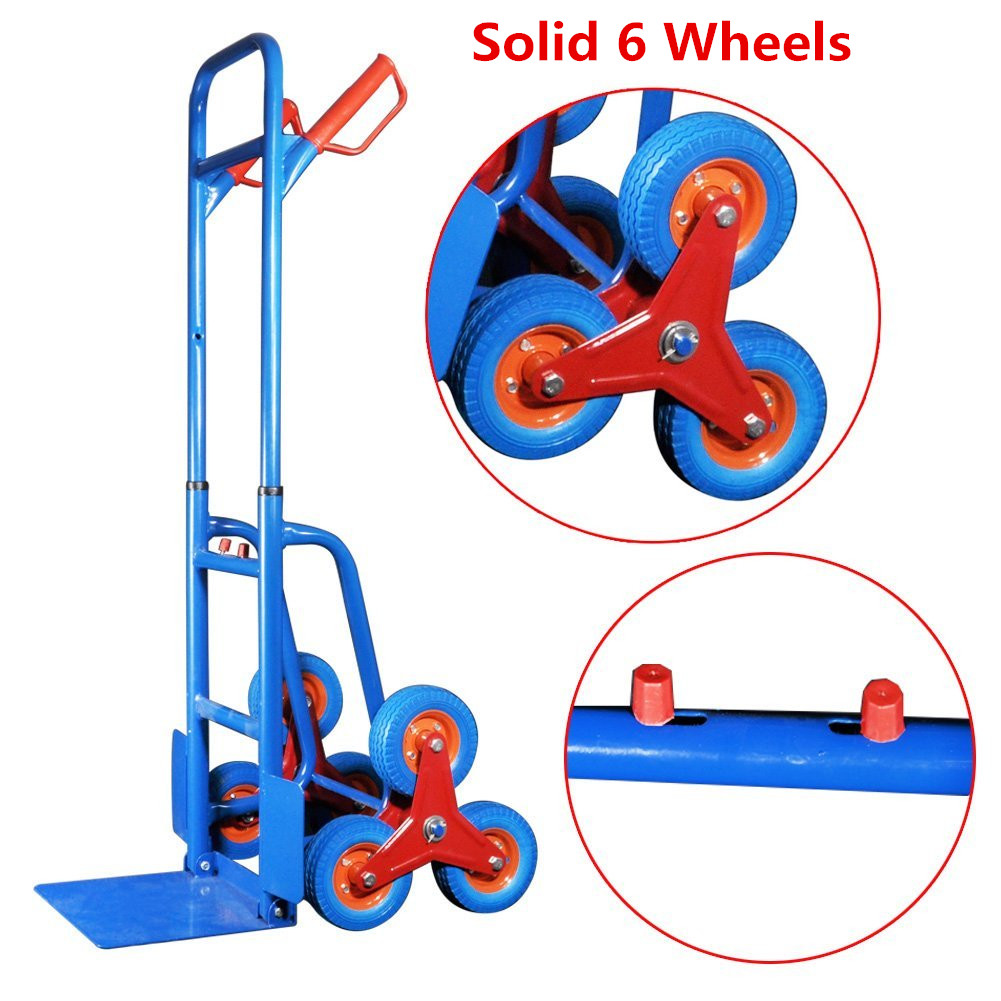 440lbs hand truck 6 wheel stair climber moving dolly. Black Bedroom Furniture Sets. Home Design Ideas