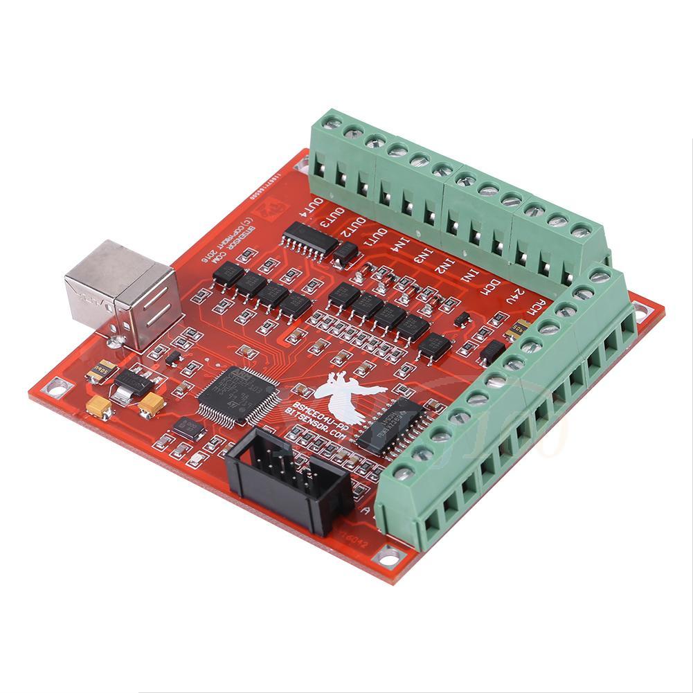hot cnc usb mach3 100khz breakout board 4axis interface. Black Bedroom Furniture Sets. Home Design Ideas