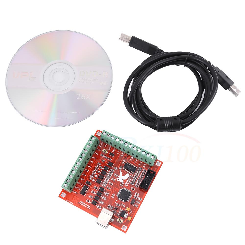 Details about CNC USB MACH3 100Khz Breakout Board 4 Axis Interface Driver  Motion Controller