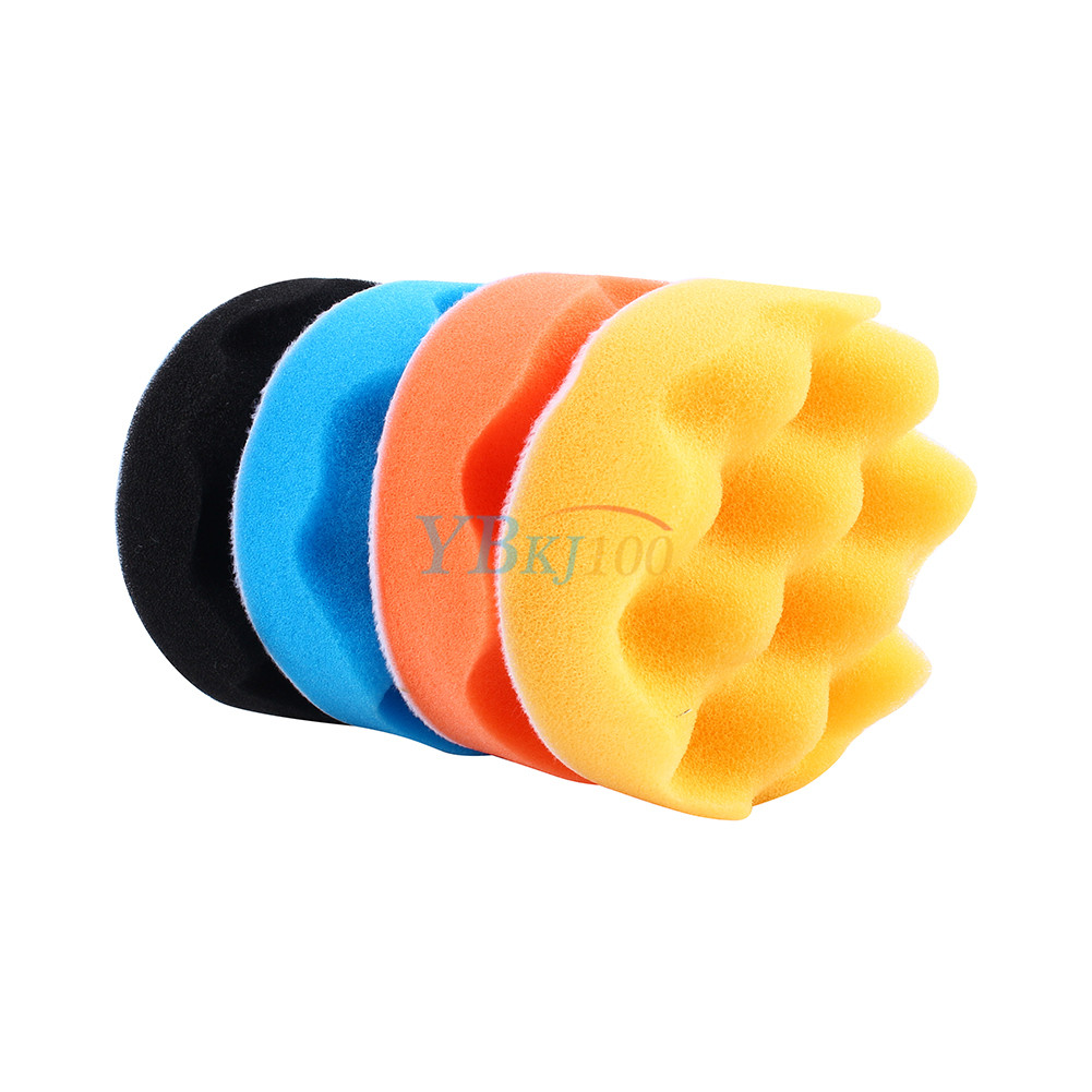 4pcs 3/4/5/6/7 Inch Polishing Buffer Waxing Sponge Foam