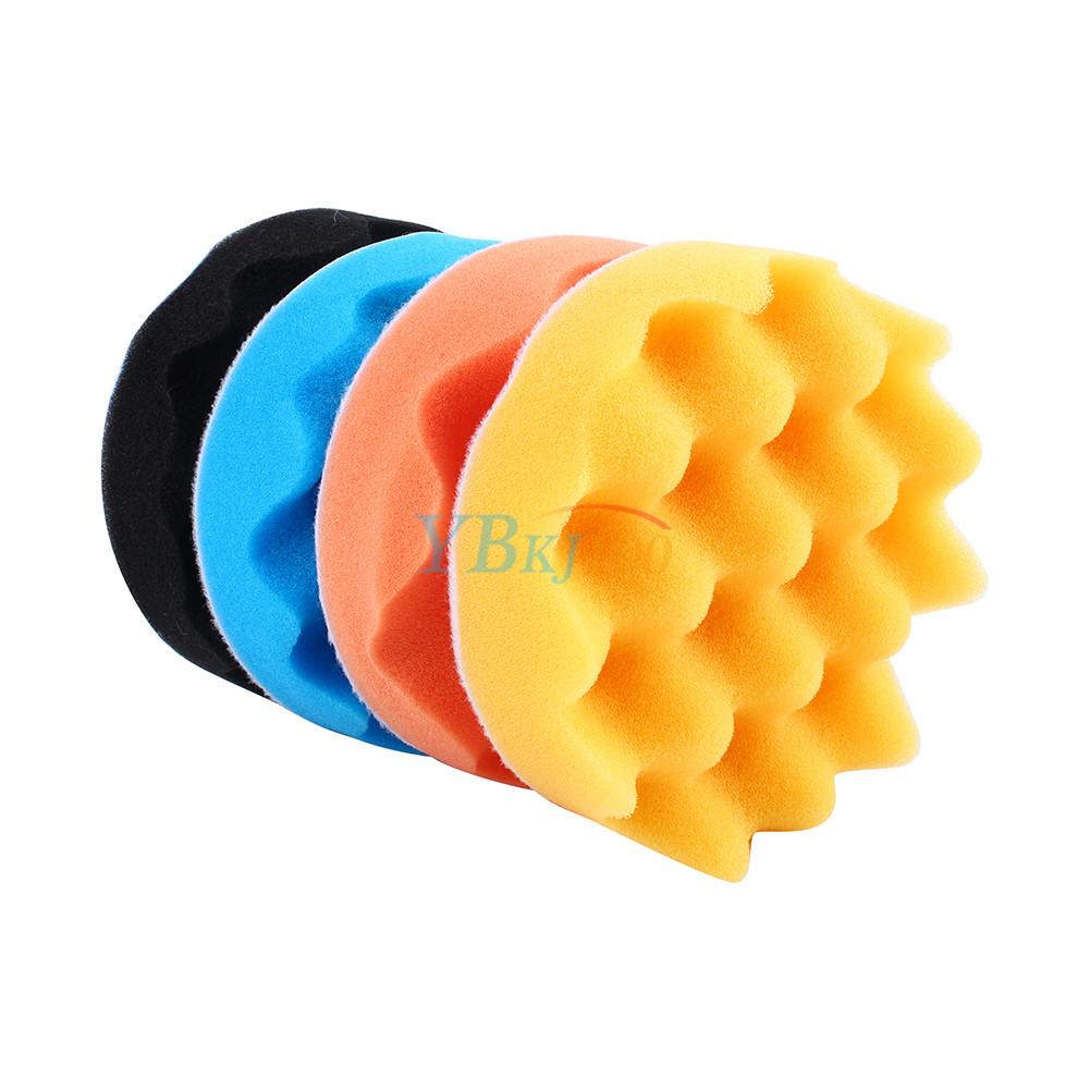 4Pcs 3/4/5/6/7 Inch Car Polishing Sponge Foam Pad Buffing