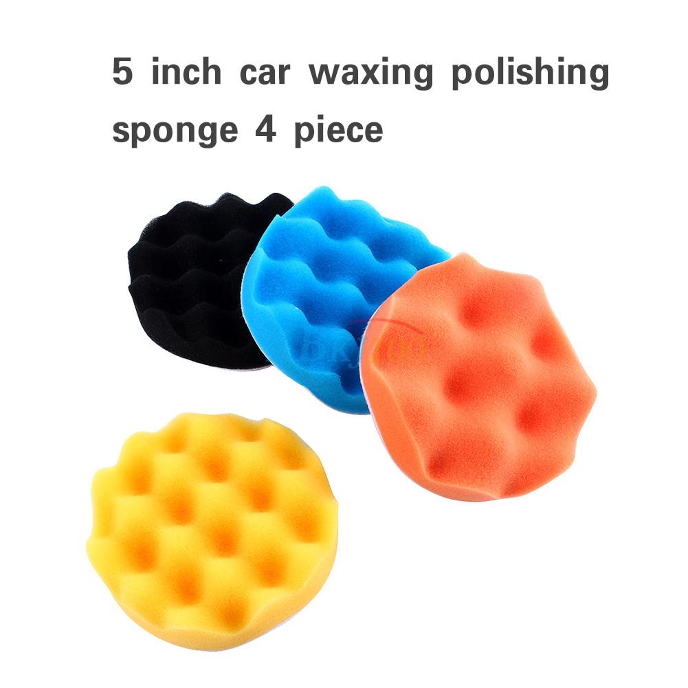 3/4/5/6/7 Inch 4pcs Car Polishing Waxing Foam Spong Buffer