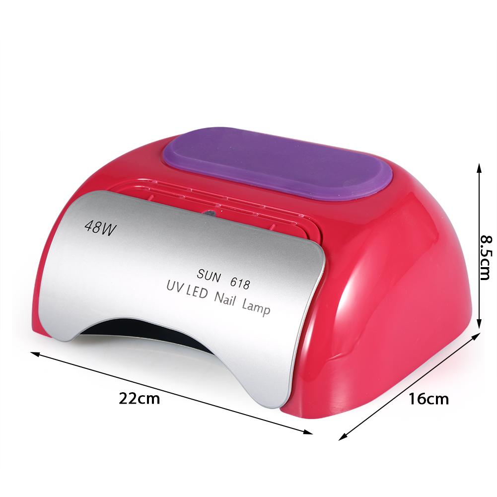 48W Sun 618 Auto Sener LED UV Nail Lamp Led Nail Light Nail Dryer UV ...