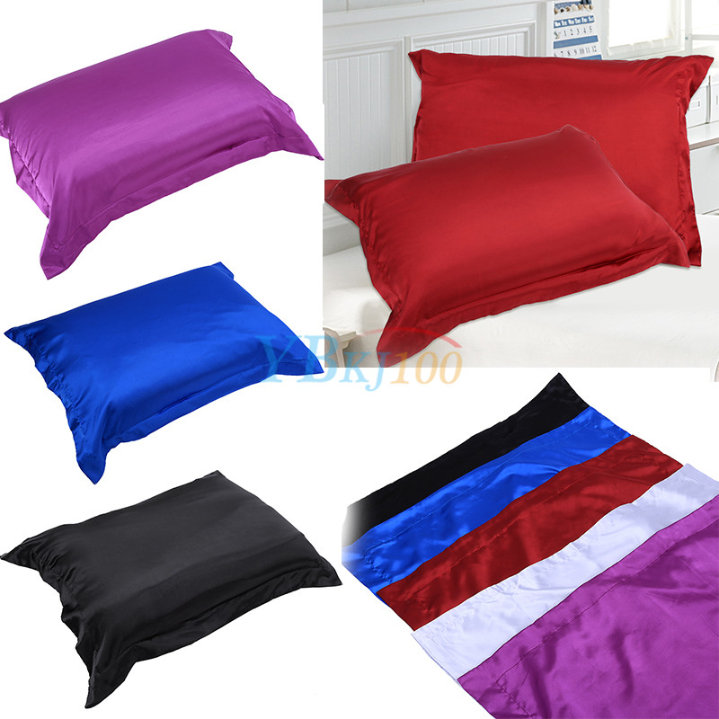Satin Pillowcase Prevent Hair Loss: Silk Satin Fabric Cover Silky Bedding Cushion Cover Fitted