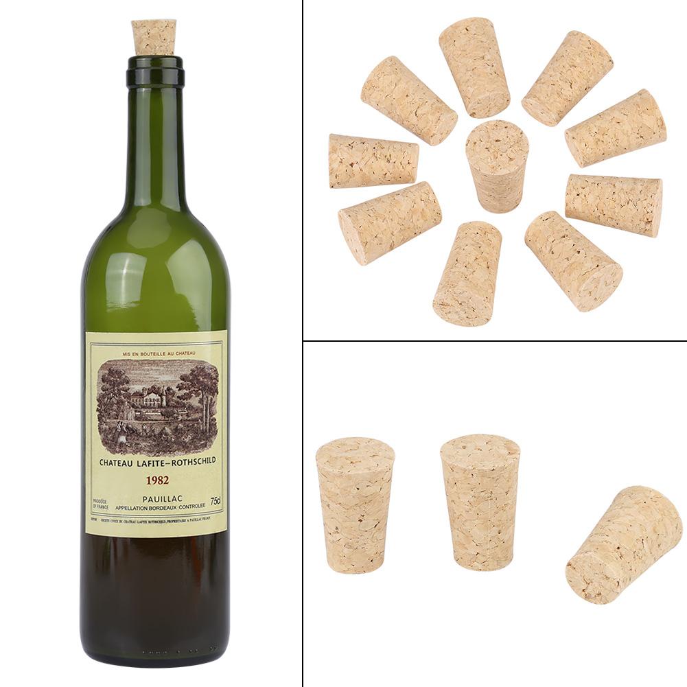 10pcs Wine Making Soft Wooden Tapered Cork Wine Brew