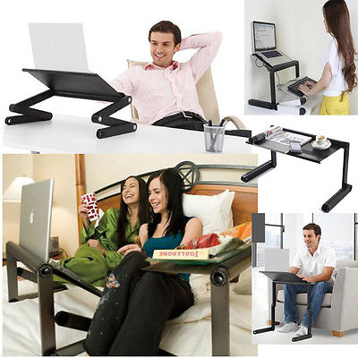 Diy Adjule Portable Laptop Table Stand Lap Lazy Sofa Bed Tray Notebook Desk