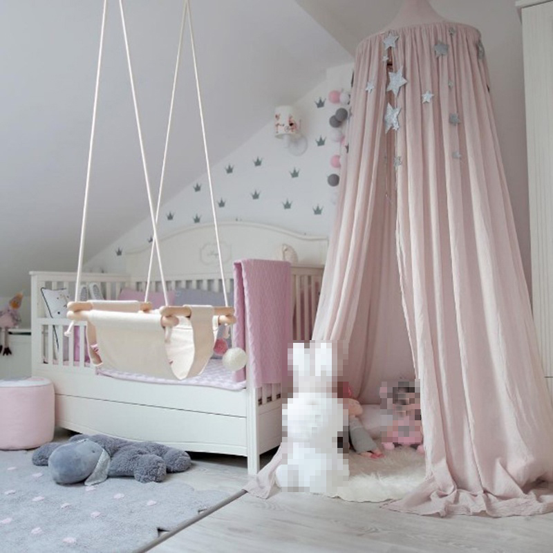 Pink Princess Cotton Cloth Round Bedding Hanging Canopy Girls Bedroom Decor New & Pink Princess Cotton Cloth Round Bedding Hanging Canopy Girls ...