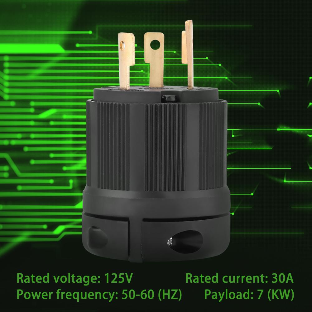 Nema L5 30 30a 125v 3 Wire Twist Lock Electrical 30p 30amp Plug Wiring Ac Connector Stw