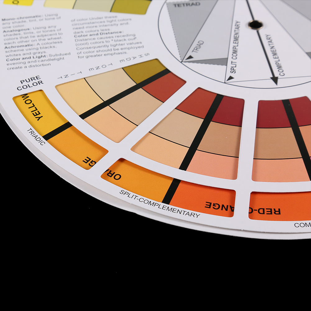 Portable Pocket Color Wheel Painting Mixing Guide Tool For Color