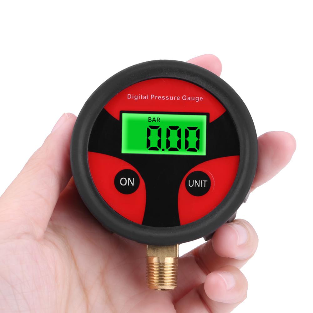 LCD Digital Car Motorcycle Tire Tyre Air Pressure Gauge Inflator Tester 0-200PSI