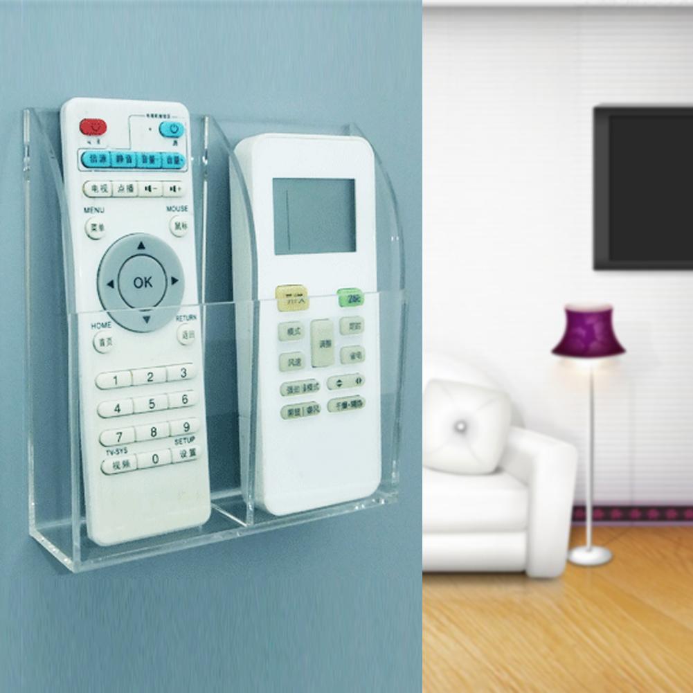 Tv Air Conditioner Remote Control Holder Case Acrylic Wall