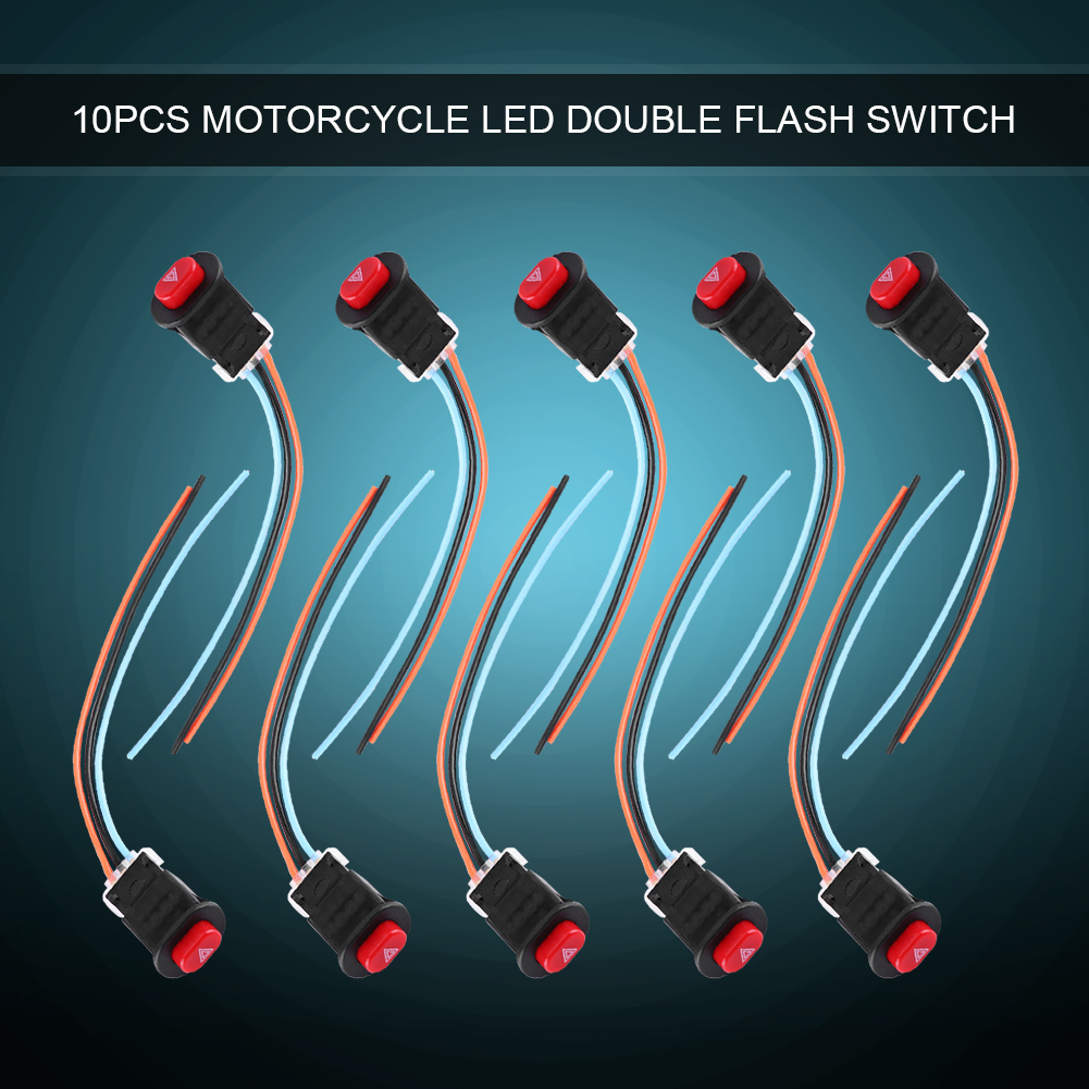 10x Motorcycle Dual Double Flash Turn Signal Warning Light Switch ...