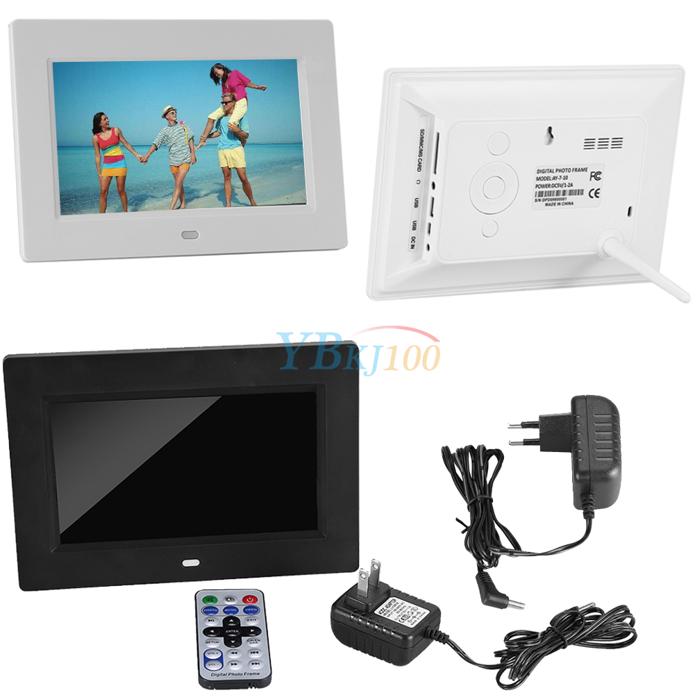 7 Inch Remote Digital Video Music Playing Electronic Picture Photo Frame Lj