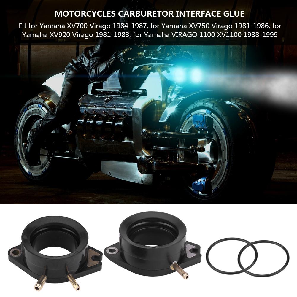 2xmotorcycle carburetor intake boots for yamaha xv750 920 for Yamaha virago 1100 carburetor adjustment