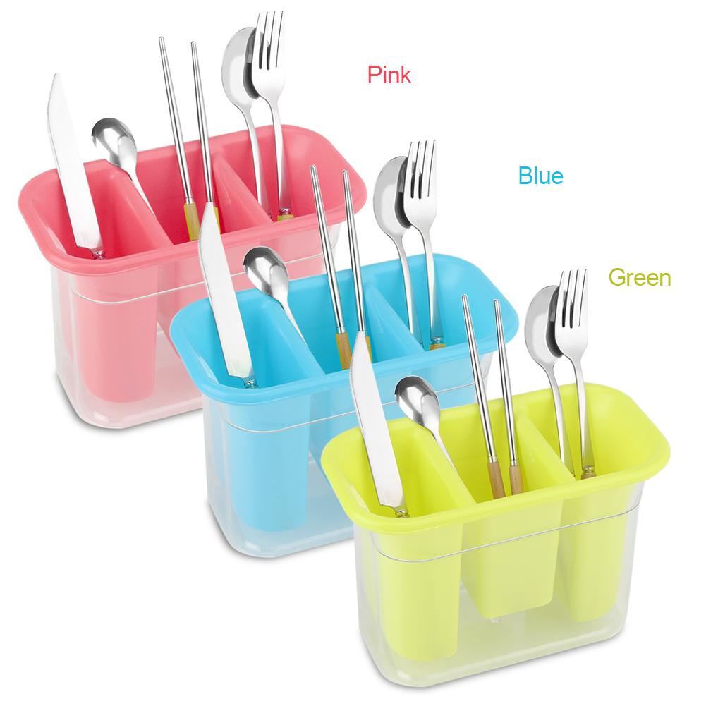 Plastic Storage Holder Spoon Fork Chopsticks Kitchen Organizer Case ...
