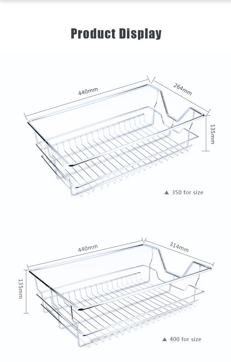 pull out pantry drawer cabinet slide basket storage kitchen 350