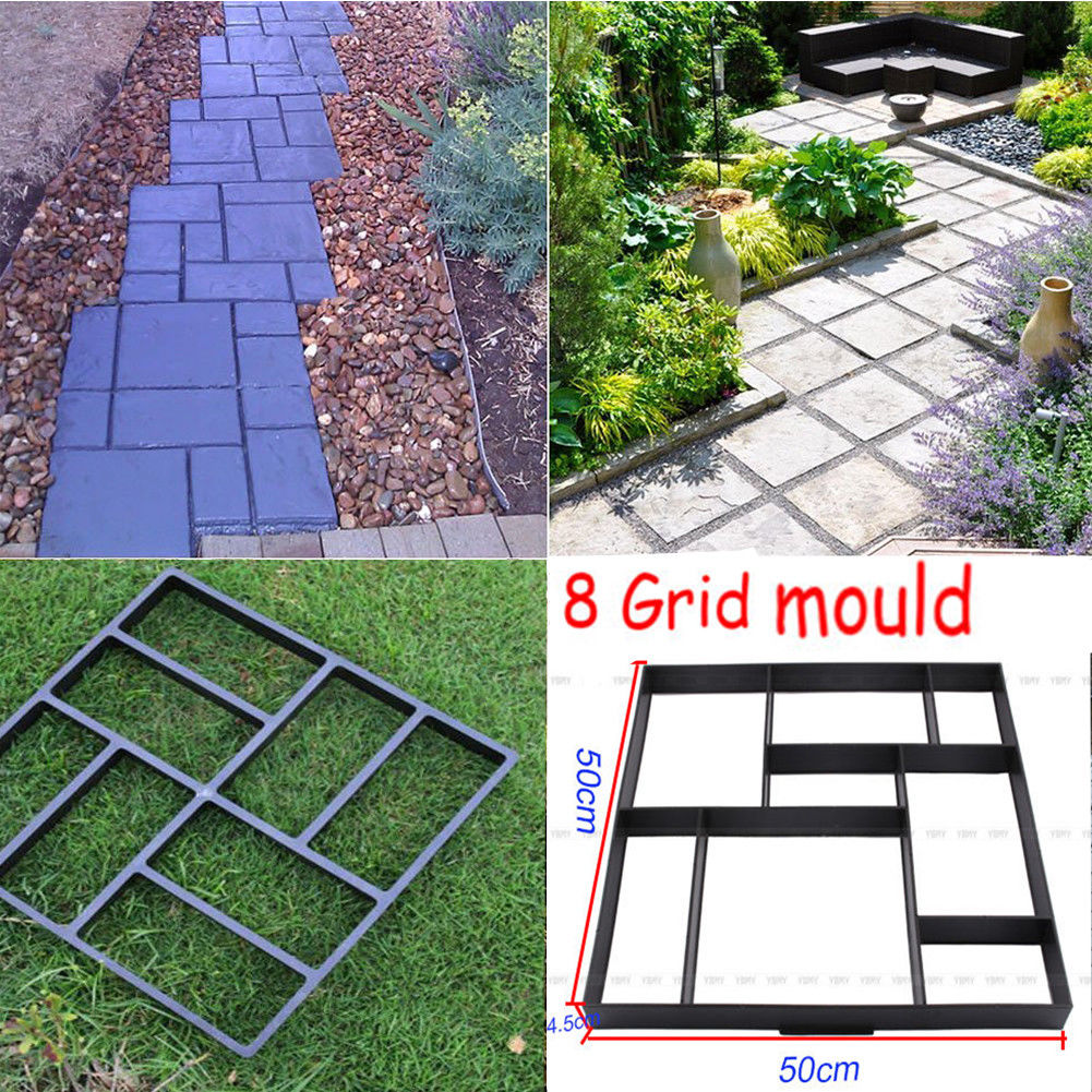 Patio Ideas With Existing Concrete Slab: 50x50 DIY Square 8 Grid Driveway Brick Patio Concrete Slab