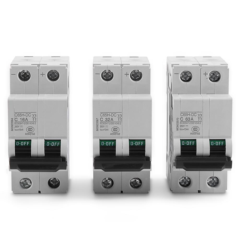 10//16//20//32//40//63A DC Miniature Circuit Breaker 1P 1 Pole 250V fr Solar Energy