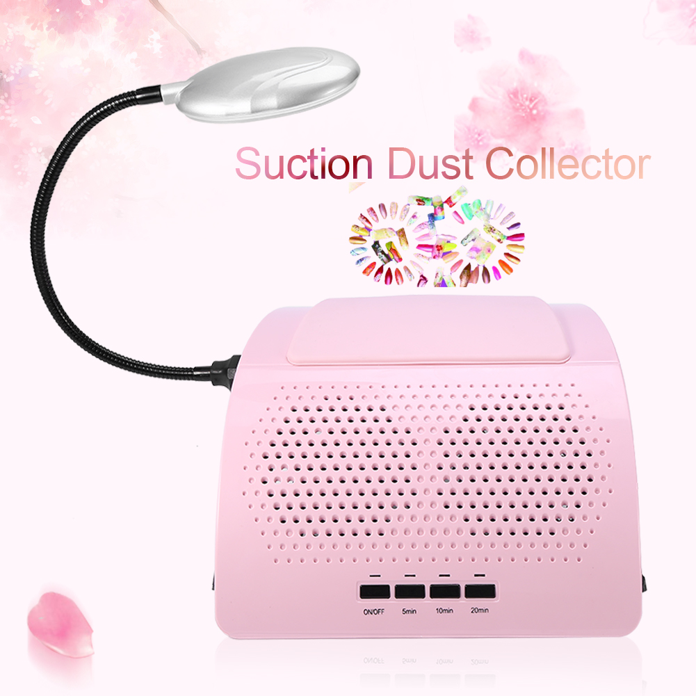 60W Nail Art Dust Suction Collector Fans Nail Dust Collector ...
