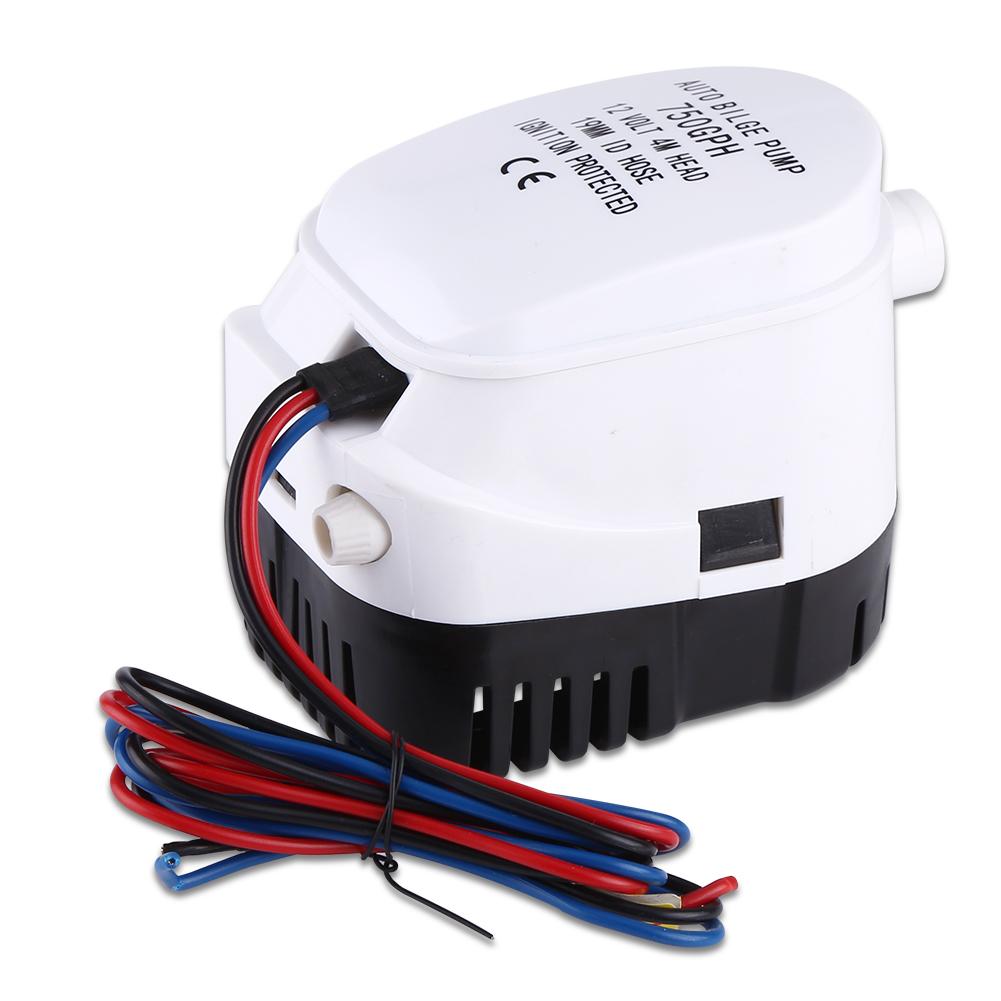 12V Automatische Bilgepumpe Lenzpumpe Tauchpumpe Schwimmerschalter 750GPH PRIMA