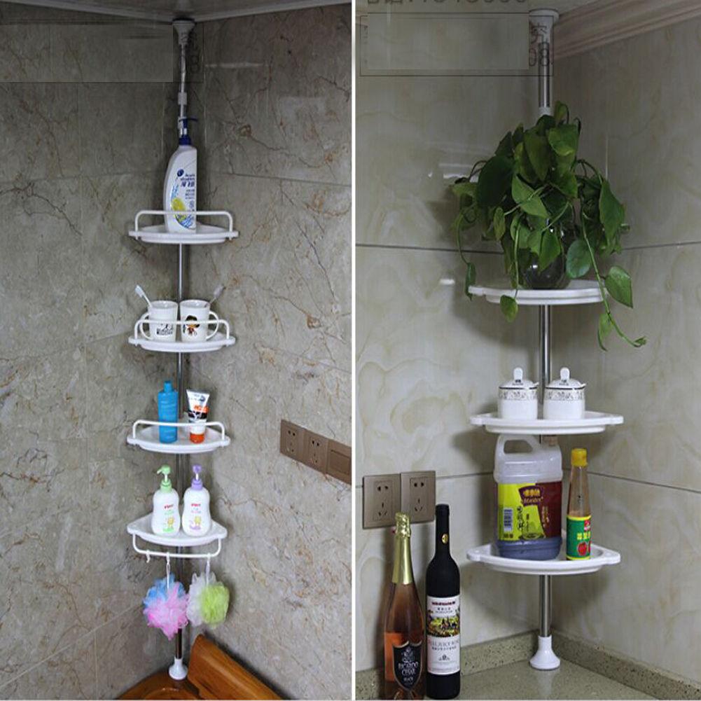 Corner Shower Caddy Shelf Organizer Bath Storage Bathroom Toiletry ...