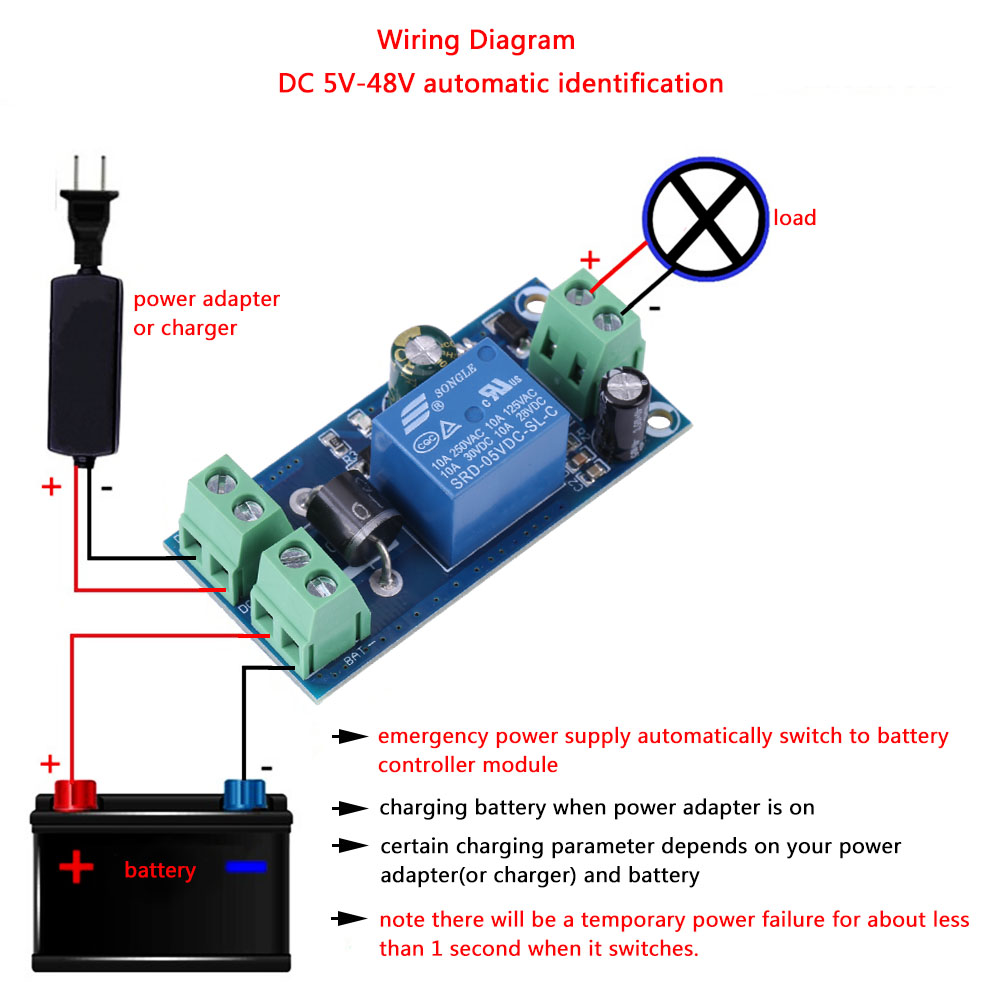 Dc 5v 48v 12v 24v 10a Power Off Battery Supply Automatic To Circuit Switch Controller