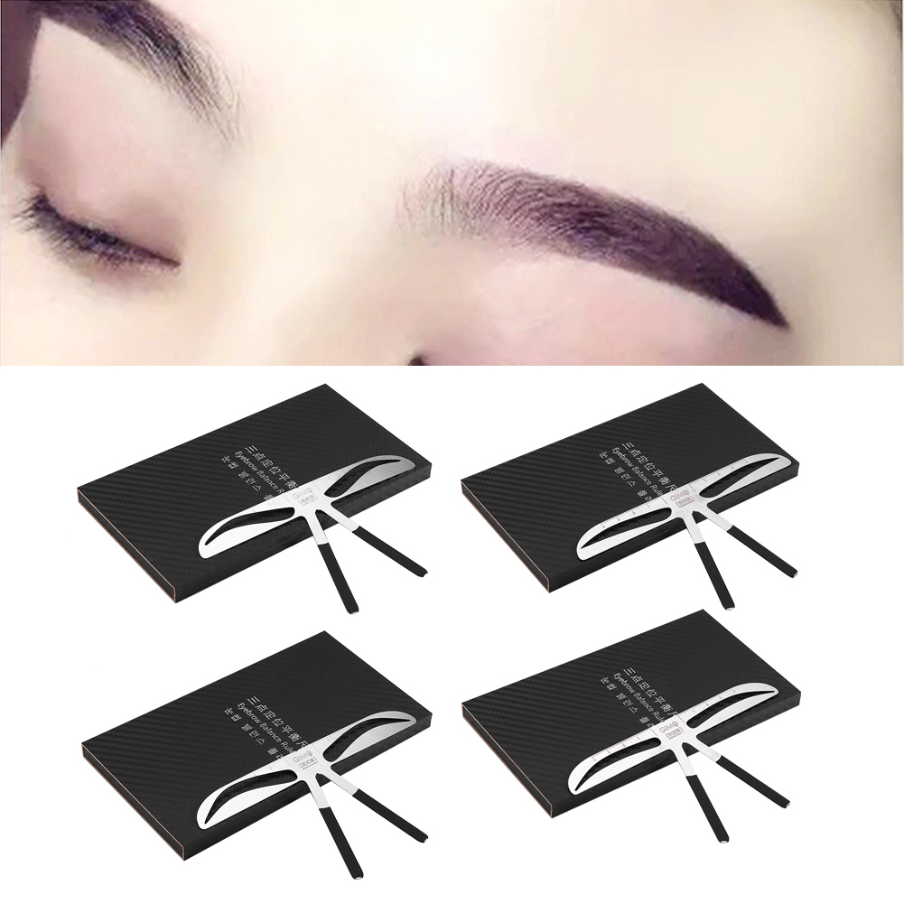 Microblading Permanent Eyebrow Stencil Measure Tattoo Ruler Template Makeup Ly