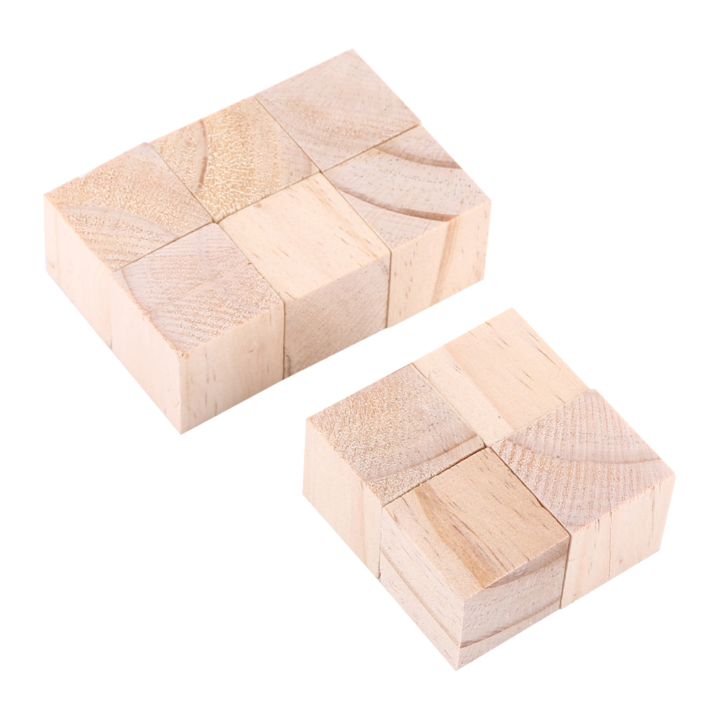 Natural Unfinished Pine: 50pcs Natural Unfinished Square Cubes Pine Wood 1'' Wood