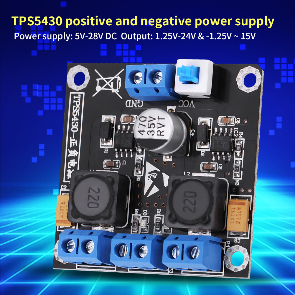 Tps5430 Positive Negative Dual Power Supply Module W Switching 24v Circuit To 5v 12v Im
