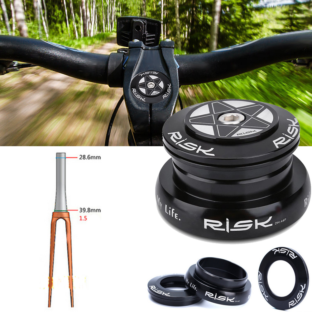 1-1//2 To 1-1//8 Bicycle Tapered Steerer Tube//Fork Head Taper Tube Aluminum Alloy