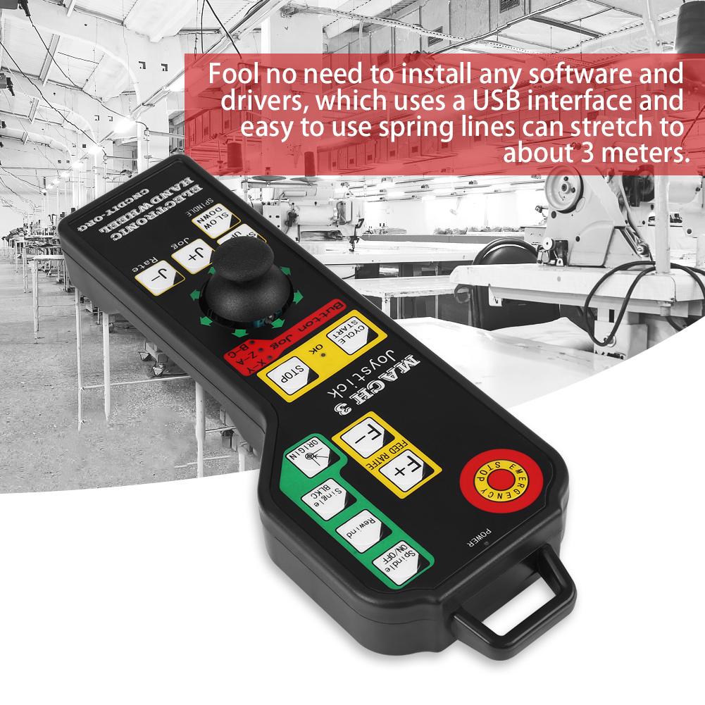 Details about Mach3 6 Axis USB Joystick Rocker Handheld Electronic  Handwheel fr CNC Engraving