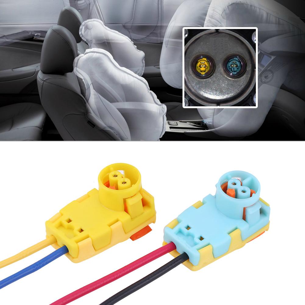 2x Car Airbag Clockspring Wire Connector Plug For Sonata Verano Volt Ford  Focus