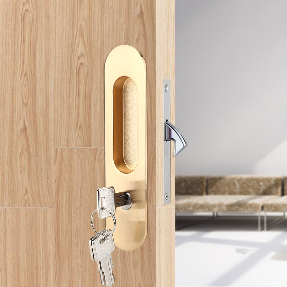 Home Bathroom Sliding Door Lock Handle Keys For Barn
