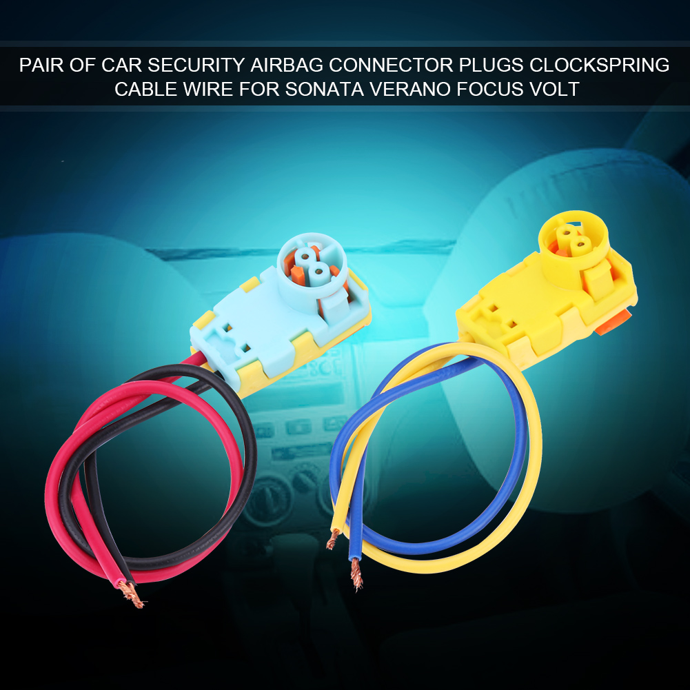 Pair Airbag Clockspring Wire Clock Spring Plug Connector For Focus Ford Wiring 2x Car Sonata Verano Volt
