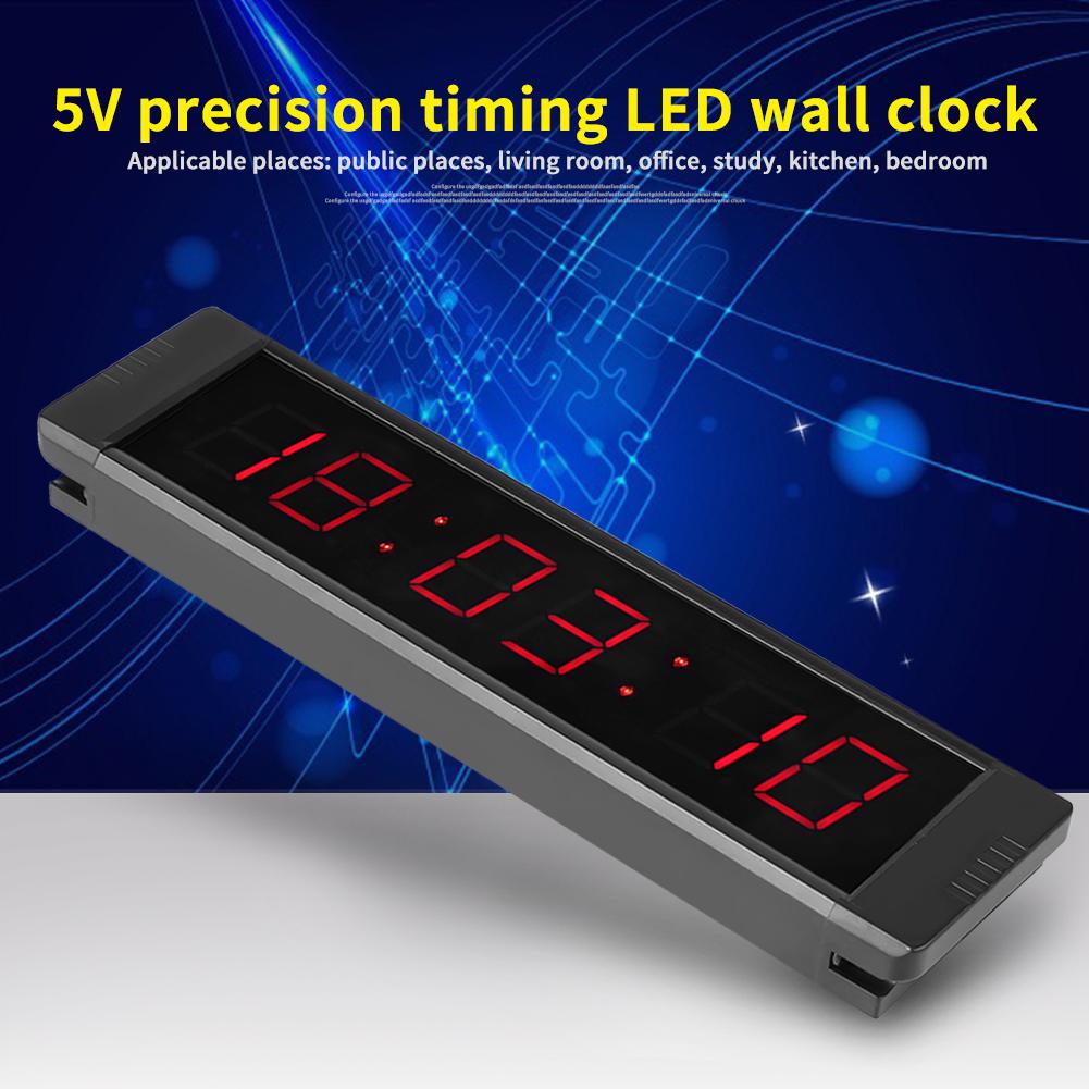 Remote Control Digital Led Alarm Wall Clock Countdown Timer Screen