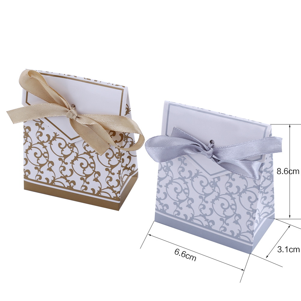 10-100pcs Craft Paper Bags Box Gift Cake Bread Candy Wedding Party ...