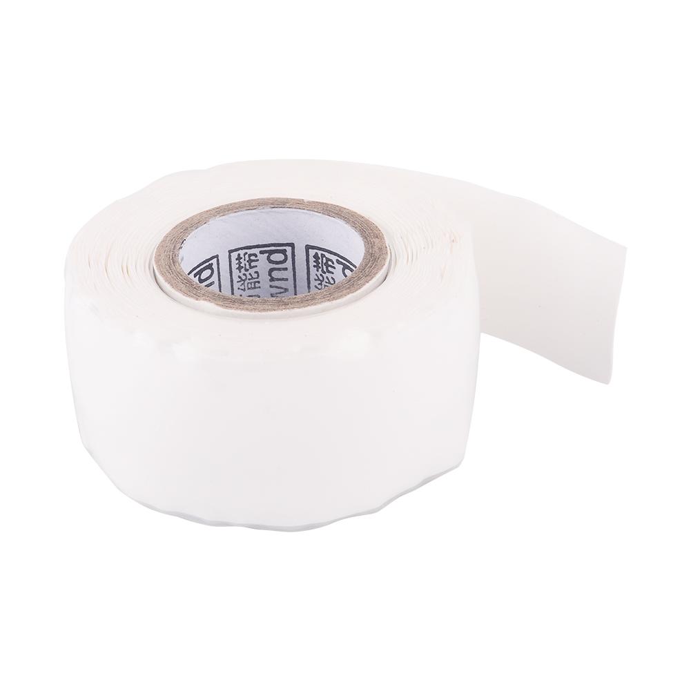 Waterproof Silicone Repair Tape Performance Bonding Self Fusing Wire Hose White